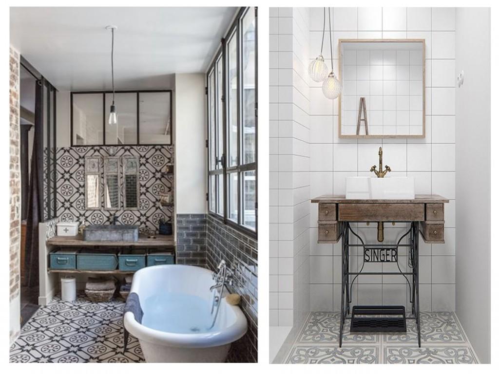Salle de bain moderne avec mosaique for Salle de bain tendance 2016