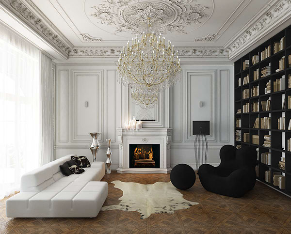 Salone Con Parquet White Interior Design : Inspiration appartement haussmanien pamela gallart