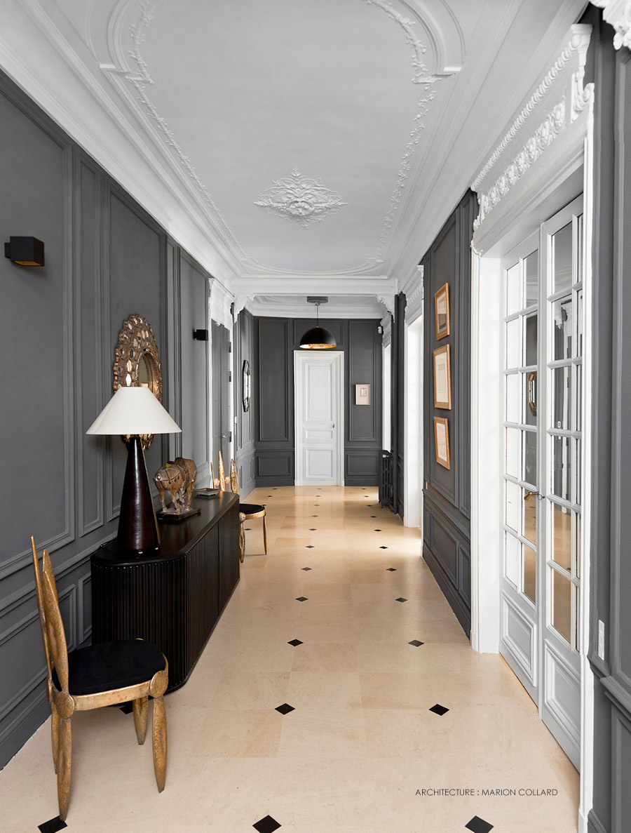 Inspiration appartement haussmanien pamela gallart for Decoration interieur haussmannien